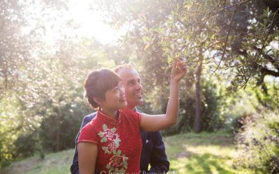 From Singapore to Trasimeno Lake! An intimate wedding party